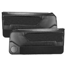 Acme Mustang Door Panels for Power Windows  - Black (87-89)