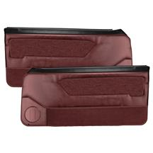 Acme Mustang Door Panels for Power Windows  - Scarlet Red (87-89)