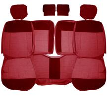 Mustang Acme Seat Upholstery  - Scarlet Red Cloth (90-92) Hatchback
