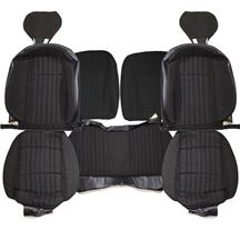 Mustang Acme Sport Seat Upholstery  - Black Cloth (92-93) Hatchback