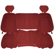 Acme Mustang Sport Seat Upholstery - Cloth  - Scarlet Red (1992) Convertible U642-153