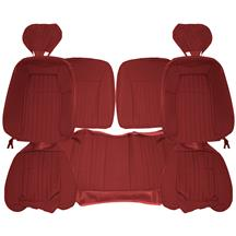 Acme Mustang Sport Seat Upholstery - Cloth  - Scarlet Red (1992) Hatchback