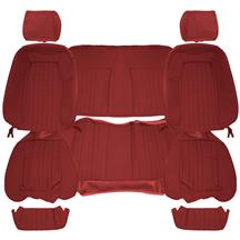 Acme Mustang Sport Seat Upholstery - Cloth  - Scarlet Red (87-89) Convertible
