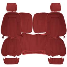 Acme Mustang Sport Seat Upholstery - Cloth  - Scarlet Red (87-89) Hatchback