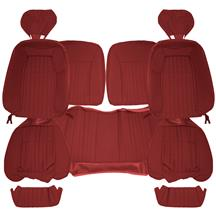 Acme Mustang Sport Seat Upholstery - Cloth  - Scarlet Red (90-91) Hatchback