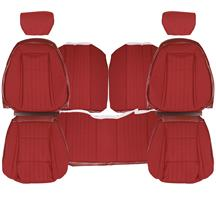 Mustang Acme Sport Seat Upholstery  - Scarlet Red Cloth (1992) Hatchback