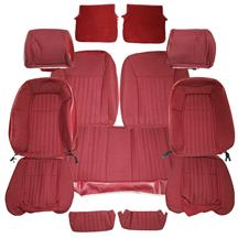 Mustang Acme Sport Seat Upholstery Scarlet Red Cloth (87-89) Hatchback