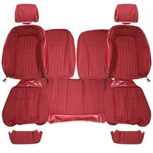 Mustang Acme Sport Seat Upholstery  - Scarlet Red Cloth (87-89) Hatchback