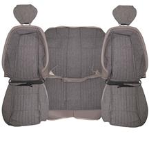 Mustang Acme Sport Seat Upholstery  - Titanium Gray Cloth (1992) Coupe