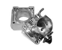 Mustang Accufab 75mm Throttle Body w/ Solid EGR Spacer Polished (86-93)