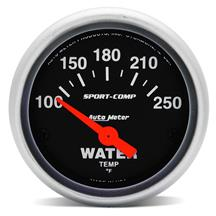 Auto Meter Sport Comp Coolant Temperature Gauge 2 1/16""