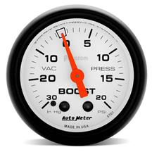 "Autometer  Phantom Vacuum Boost Gauge - 2 1/16""  5701"