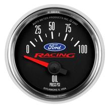 Auto Meter Ford Racing Oil Pressure Gauge 2-1/16""