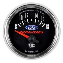 Auto Meter Ford Racing Voltmeter Gauge 2-1/16""