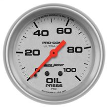 Auto Meter  Ultra-Lite Full Sweep Oil Pressure Gauge - 2-5/8""