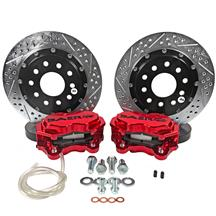 "Mustang Baer Front SS4+ Drag Race Brake System - 11.62""  - Red (15-19)"
