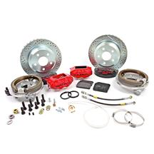 "Mustang Baer SS4 Rear Brake Kit - 4 Piston - 12""  - Red (94-04)"