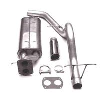 F-150 SVT Lightning Bassani Catback Exhaust - Rear Exit Stainless  (93-95) 5.8