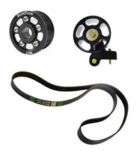 "Mustang BilletFlow  2.76"" Supercharger Pulley Kit Black (03-04)"