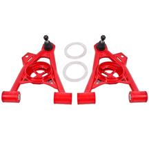 BMR Mustang Tubular Front Control Arms w/ Spring Cups  - Raised Ball Joint - Red (94-04) AA043R