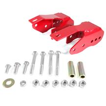 Mustang BMR Bolt-On Control Arm Relocation Brackets - Red (05-14)