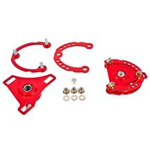 Mustang BMR Caster Camber Plates  - Red (15-17)