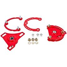 Mustang BMR Caster Camber Plates  - Red (15-18)