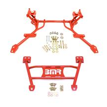 Mustang BMR Tubular K-Member & Lower Chasis Brace Kit Red (05-10)