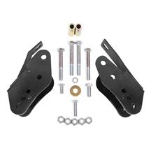 BMR Mustang Bolt-On Control Arm Relocation Brackets Black (05-14) CAB005B