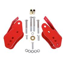 BMR Mustang Bolt-On Control Arm Relocation Brackets - Red (05-14) CAB005R