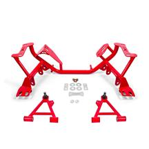 BMR Mustang Tubular K-Member & Control Arm Kit  - Coilovers - Red (96-04)