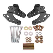 BMR Mustang Lower Control Arm Relocation Brackets - Black Hammertone (79-04) CAB740H