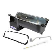 Mustang Canton T-Sump Road Race Oil Pan Kit  - Black (79-95) 5.0L
