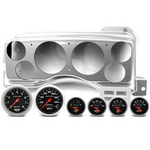 Mustang Classic Dash Instrument Panel & Autometer Gauge Kit  - Brushed Aluminum (87-89)