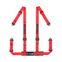 Corbeau 4-Point Bolt-In Harness  - Red
