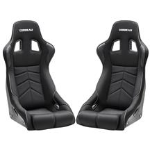 Mustang Corbeau DFX    - Black Vinyl - Cloth W/ Black Piping