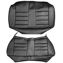 Mustang Corbeau Rear Seat Upholstery Black Vinyl (79-93) Coupe