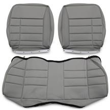 Mustang Corbeau Rear Seat Upholstery Gray Cloth (84-93) Hatchback