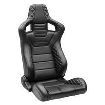 Corbeau Sportline RRS Racing Seat Pair  - Black Vinyl Diamond/Black Stitching