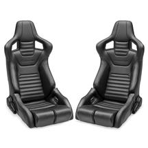 Corbeau Sportline RRB Reclining Seat Pair  - Black Cloth/Vinyl
