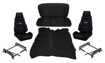 Mustang Corbeau GTS 2 Interior Upgrade Kit Black (83-93)