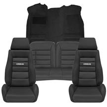 Mustang Corbeau GTS 2 Interior Upgrade Kit Black (83-93) Convertible