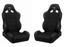 Mustang Corbeau CR1 Wide Seat Pair Black Cloth