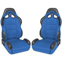 Corbeau CR1 Seat Pair  - Blue Cloth