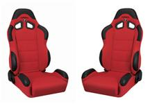 Mustang Corbeau CR1 Seat Pair Red Cloth