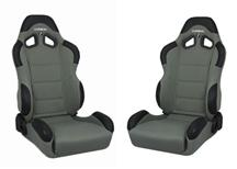 Mustang Corbeau CR1 Seat Pair Gray Cloth