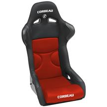Mustang Corbeau FX1 Seat Black Cloth/Red Cloth Insert