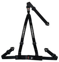 Corbeau 3 Point Bolt In Double Release Harness  Black