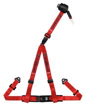 Corbeau 3 Point Bolt In Retractable Harness Red