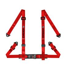 Corbeau 4 Point Snap In Harness Red
